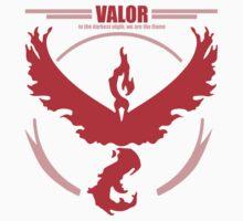 Team Valor Pokemon go One Piece - Short Sleeve
