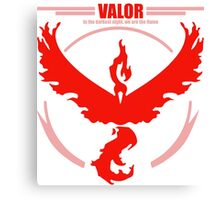 Team Valor Pokemon go Canvas Print