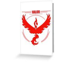 Team Valor Pokemon go Greeting Card