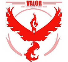 Team Valor Pokemon go Photographic Print