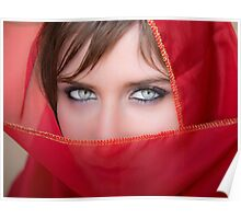 attractive woman eye Poster