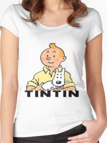 tintin_adventure Women's Fitted Scoop T-Shirt
