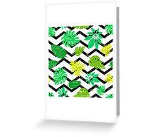 Bright tropical leaf Greeting Card