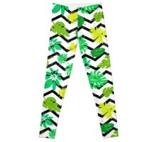 Bright tropical leaf Leggings