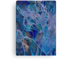 Primordial blue therapy Canvas Print
