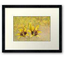 Lilycrest Gardens - Yellow and Brown Framed Print