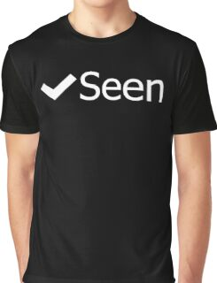 Facebook Seen Graphic T-Shirt