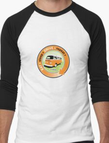 Eat Sleep Drive Repeat orange green Men's Baseball ¾ T-Shirt