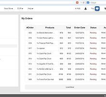 Order History of an User in Fantacy - http://www.fancyclone.net by hitasoft