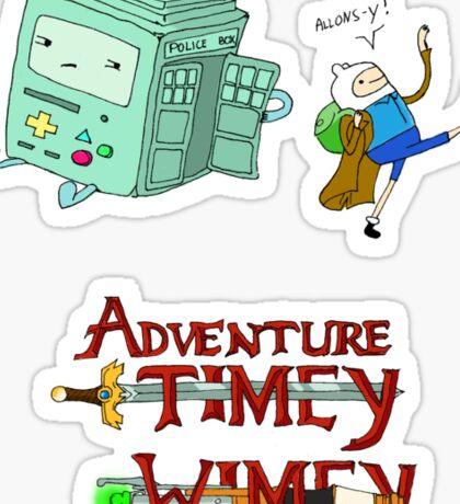 Adventure Timey wimey Sticker