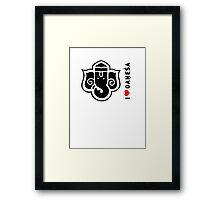 I LUV GANESHA | 03 Framed Print