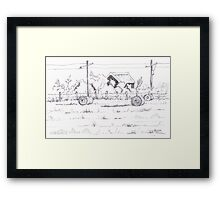 The harvest is in Framed Print