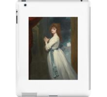 George Romney PORTRAIT OF MRS. JORDAN AS PEGGY IN THE COUNTRY GIRL iPad Case/Skin