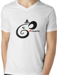I LUV GANESHA | 02 Mens V-Neck T-Shirt