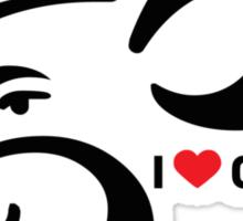 I LUV GANESHA   02 Sticker