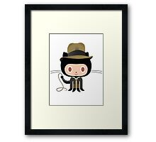 Dr. Indiana-to-cat Framed Print