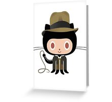 Dr. Indiana-to-cat Greeting Card