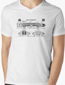 Space: 1999 - Eagle Transporter Mens V-Neck T-Shirt