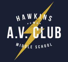 Hawkins A.V. Club (aged look) Kids Tee