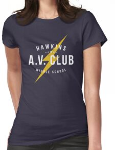 Hawkins A.V. Club (aged look) Womens Fitted T-Shirt