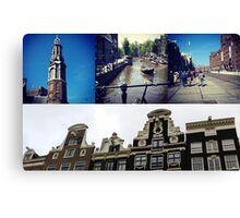 Photo collage Amsterdam 2 Canvas Print