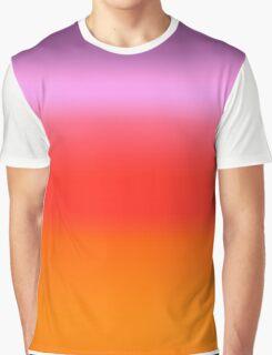 Digital Sunset Gradient Graphic T-Shirt