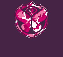 Tomorrowland Camouflage logo - Pink Womens Fitted T-Shirt