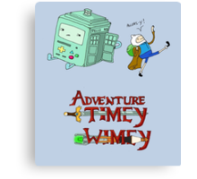 Adventure Timey wimey Canvas Print