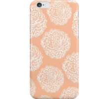 Peachy Flowers iPhone Case/Skin