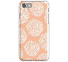Peachy Flowers iPhone Case/Skin
