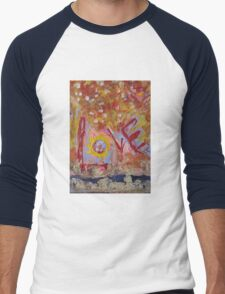 Love is an Oasis by Darryl Kravitz Men's Baseball ¾ T-Shirt