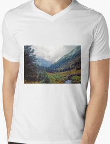 Wind Rivers I Mens V-Neck T-Shirt