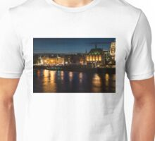 London Night Magic - Colorful Reflections on the Thames River Unisex T-Shirt