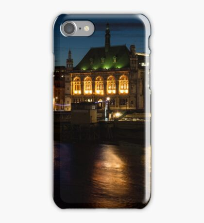 London Night Magic - Colorful Reflections on the Thames River iPhone Case/Skin
