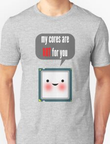 Cute blushing CPU My cores are hot for you Unisex T-Shirt
