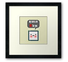Cute blushing CPU My cores are hot for you Framed Print