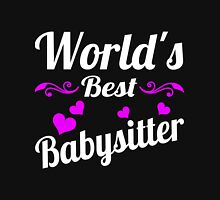 World's Best Babysitter Womens Fitted T-Shirt