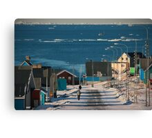Street in Ilulissat, Greenland Canvas Print