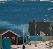 Street in Ilulissat, Greenland Sticker