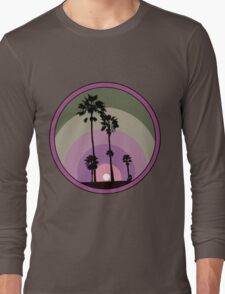 Palm Sunset - Purple Long Sleeve T-Shirt