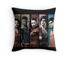 Misfit Characthers Throw Pillow