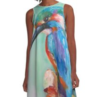 King fisher A-Line Dress