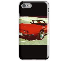 Curvy red Vette iPhone Case/Skin