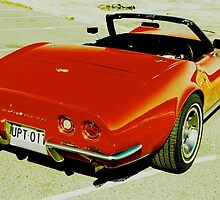 Red Convertible Muscle by Andrew Felton