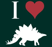 I Love Dinosaurs - Stegosaurus (white design) by jezkemp