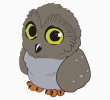 Owl - Gray Baby Tee