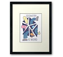 GEOMETRY IS WEIRD! Framed Print