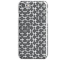 Grey retro squares iPhone Case/Skin