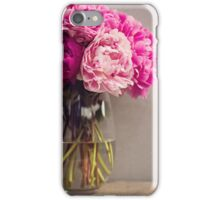 Pink Peony in a vase iPhone Case/Skin