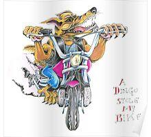 A dingo stole my bike RH Poster